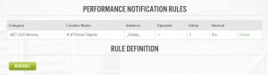 Set up rules to notify of performance changes